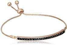 Hot Diamonds-Pendaglio in cristallo, placcato oro rosa, lunghezza 19 cm