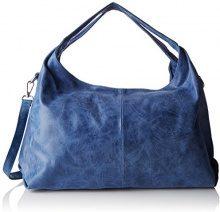 Chicca Borse 80053, Borsa a Tracolla Donna, Blu (Blu Jeans), 46x26x10 cm (W x H x L)