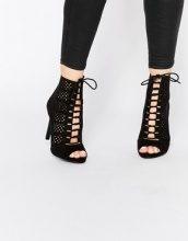 New Look - Scarpe stringate con tacco tagliate al laser