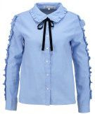 English Factory RUFFLE DETAIL Camicia dusty blue