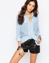 Wyldr - Camicia di jeans con frange