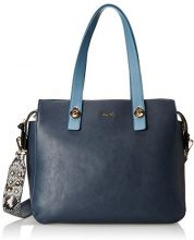 Gaudì Shopping Linea Angelica, Borsa a Mano Donna, Blu (Dk Blue), 36 x 26 x 15 cm (W x H x L)