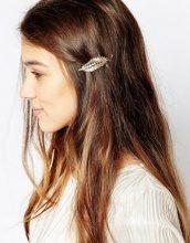 Orelia - Fermacapelli a foglia con strass