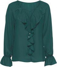 Blusa con volant (Verde) - BODYFLIRT