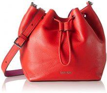 Calvin Klein Jeans MIA Mini Drawstring, Borsa a Tracolla Donna, Rosso (Fiery RED/Berry 908), 10x20x23 cm (B x H x T)