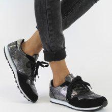 Sneakers con finitura metallizzata