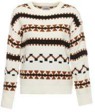 Pullover con motivo a maglia geometrico