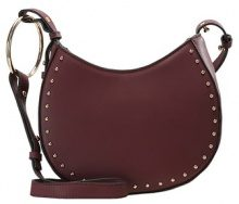 Topshop ORION STUDDED Borsa a tracolla burgundy
