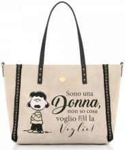Borsa Shopping Le Pandorine  Shopper  Peanuts Reversible Bag ''Donna''