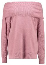 Topshop CABLE SLEEVE BARDOT  Maglione pink