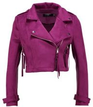 Missguided Petite Giacca in similpelle magenta