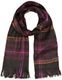 Great Plains - Brushed Check Scarf, Sciarpa da donna, violetto (potent plum check), unica