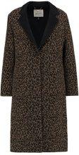 Topshop SEAM LEOPARD Cappotto classico black