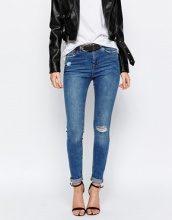 New Look - Jeans skinny con ginocchio strappato