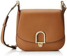Michael Kors Defina Large Leather - Borse a spalla Donna, Braun (Acorn), 7x22x26 cm (B x H T)