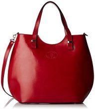Chicca Borse 80046, Borsa a Tracolla Donna, Rosso, 40x33x14 cm (W x H x L)