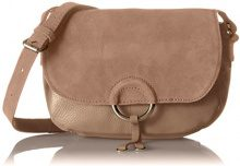 PIECES Pcjoline Leather Cross Body - Borse a tracolla Donna, Beige (Ginger Snap), 9x21x17 cm (B x H T)
