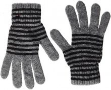 Tommy Hilfiger Tommy Stripes Gloves, Guanti Donna, Grigio (Light Grey Heather Bc/Vol), Taglia unica (Taglia Produttore: OS)