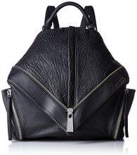 Diesel le-zipper Le-mhonic - Backpa Borse a zainetto Donna, Black, 14x33x19 cm (W x H L)