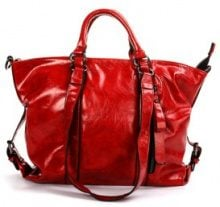 Borsa a mano in similpelle
