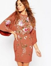 ASOS - Vestitino ricamato con maniche a kimono