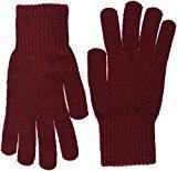 Tommy Hilfiger Basic Knit Denim Gloves, Guanti Donna, Rosso (Cabernet), Taglia Unica (Taglia Produttore: OS)