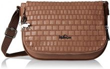 Kipling Earthbeat S - Borse a tracolla Donna, Brown (Tan Weave), 26x17x7 cm (W x H x L)
