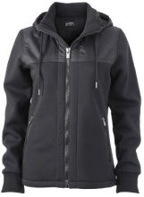 James & Nicholson - Jacke Ladies Jacket Teddy Lined, Giacca Donna, Nero (Black), X-Large (Taglia Produttore: X-Large)