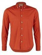 SLIM FIT - Camicia - burnt orange