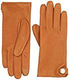 Tommy Hilfiger Coin Leather Gloves, Guanti Donna, Marrone (Cognac 279), Large (Taglia Produttore: M-L)