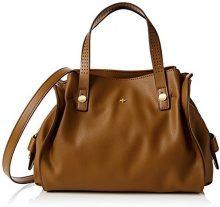 NicaAva - Borsa con Maniglia donna , marrone (Brown (chestnut)), Taglia unica