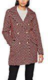 VERO MODA Vmparis 3/4 Jacket, Giubbotto Donna, Rosso (Flame Scarlet Pattern:Black&White), 38 (Taglia Produttore: Medium)