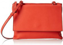 French ConnectionCallie - Borsa a tracolla donna , arancione (Orange (Sunset Wave/Bordeaux)), Taglia unica