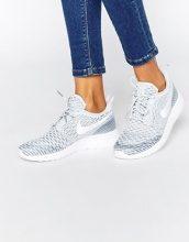 Nike - Roshe Fly - Scarpe da ginnastica in maglia color bianco e platino
