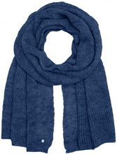 TOM TAILOR Hairy Knit Scarf, Sciarpa Donna, Blu (Medium Blue 6783), Taglia Unica