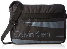Calvin Klein Jeans Cooper Messenger, Borsa a Tracolla Uomo, Nero (Black 001 001), 30 x 14 x 13 cm (B x H x T)