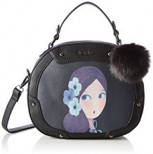 Boscha Zip Bag - cartella Donna, Schwarz (Black), 9x21x25 cm (L x H D)