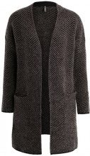 Freequent NELLO CAR Cardigan black meliert