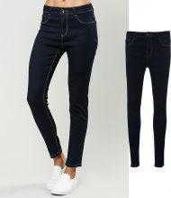 Jeans skinny con orlo decorativo