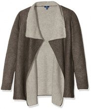 TOM TAILOR Doubleface Indoor, Cardigan Donna, Marrone (Cougar Brown), 34