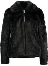 Dorothy Perkins PLUSH SHORT JACKET Giacca invernale black