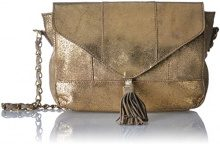 PIECES Pcsilana Leather - Borse a tracolla Donna, Gold (Gold Colour), 5,5x14x20 cm (B x H T)