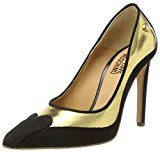 Love Moschino W.Shoe, Scarpe con Tacco Donna, Multicolore (Gold/Black), 36 EU