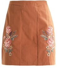 New Look LELANI PLACEMENT EMBROIDERED MINI Gonna a campana terracotta