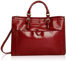 SwankySwansKerry Office Work - Borsa Tote donna , rosso (Red (Burgundy)), Taglia unica