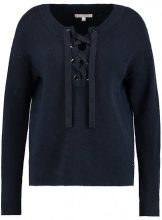 TOM TAILOR DENIM LACING CREW NECK Maglione real navy blue