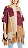 Esprit Patched Poncho-Poncho Donna,    Violet (plum Red) Small