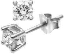 Naava Orecchini da Donna in Oro 9K (375) con Diamante (0,16 Ct), Oro Bianco