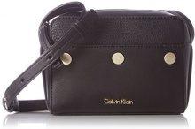 Calvin Klein Le4 Small Crossover - Borse a tracolla Donna, Schwarz (Black), 7x13x17 cm (L x H D)