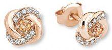 Amor Orecchini Nodo in oro rosa, argento placcato oro zirconi multicolore da donna 0,8cm–537742